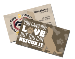 Animal Rescue Business Cards